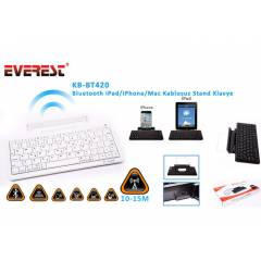 Everest KB-BT420 Beyaz Bluetooth iPad/iPhone/Mac