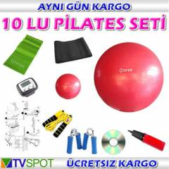 COSFER 10 LU P�LATES SET� -BANT ELYAYI M�N� TOP
