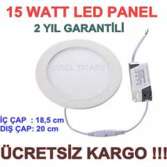15 WATT LED PANEL -SL�M PANEL-LED SPOT-DOWNLIGHT