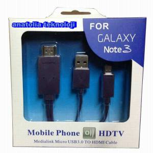 Samsung Galaxy Note 3 Micro USB 3.0 to Hdmi Hdtv