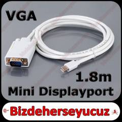 1.8m Mini Displayport to VGA Kablo Macbook