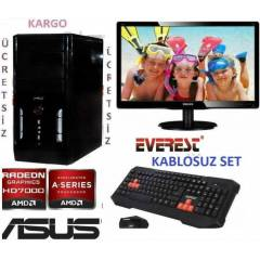 AMD 4 �EKiRDEK+22 LED+320GB +16 GB RAM+KABLOSUZ