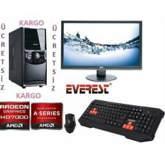 AMD 4 �EKiRDEK+20 LED+320 GB +4 GB RAM+HAZIR PC
