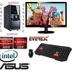 �NTEL i3 3210+20 LED+4 GB RAM+2GB E,KRT+320 GB