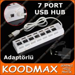 7 Port USB HUB �oklay�c� - Adapt�rl� - Anahtarl�