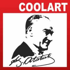 COOLART Duvar Sticker Atat�rk (st291)