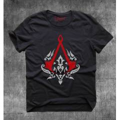 Gamedevil Assassin's Creed Logolu Siyah Tshirt