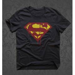 Icon Madness SuperMan Siyah TShirt
