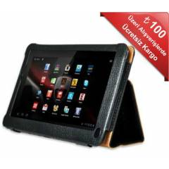 Piranha Premium Case 7inc Deri Siyah Tablet K�l�