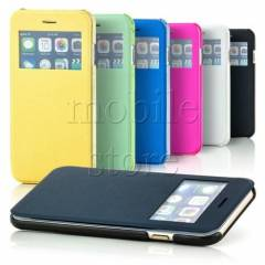 iPhone 6 Plus K�l�f Pencereli Flip Cover 3 Renk
