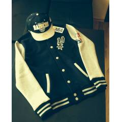SAN ANTON�O SPURS COLLEGE JACKET Kolej Mont NBA