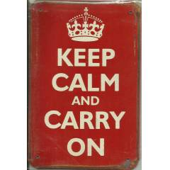 Keep Calm And Carry On Retro Metal Plaka No 24