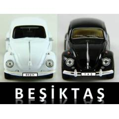 BE��KTA� 2 ADET VOSVOS BEETLE MAKET ARABA +PLAKA