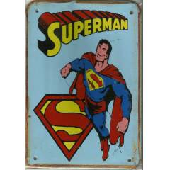 Superman Retro Metal Plaka Ev Kafe Dekor No 69