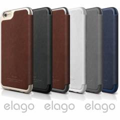 iPhone 6 Deri K�l�f Flip ELAGO Leather K�l�f