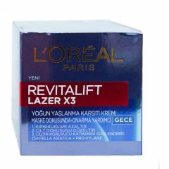 Loreal Rev�tal�ft Lazer X3 Gece Kremi 50 ML