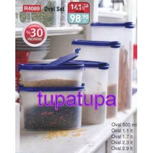 TUPPERWARE OVAL SET 5 L� ERZAK SAKLAMA KAPLARI