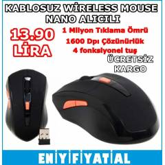 KABLOSUZ W�RELESS MOUSE LAPTOP PC 1600 DPI