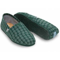 TOMS Erkek Ayakkab�-Green Tailored Checkered