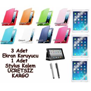 iPad Air K�l�f Stand 9 Ayr� Renk