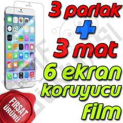 Apple iPhone 6 Plus Ekran Koruyucu Film 6 Adet
