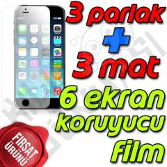 Apple iPhone 6 Ekran Koruyucu Film Tam 6 Adet