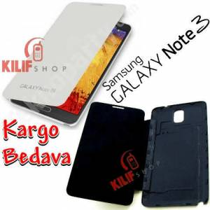 Galaxy Note 3 N9000 Flip Cover K�l�f + 3 Film
