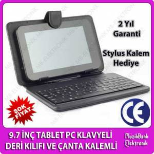 9.7'' TABLET PC KLAVYEL� DER� KILIFI VE �ANTA