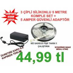 3 (��) ��PL� �ER�T LED KOMPLE SET S�L�KONLU 5 MT