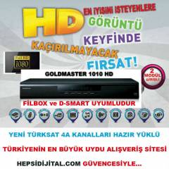 GOLDMASTER 1010 HD ��FT MOD�L G�R��L� UYDU ALICI