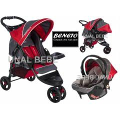 BENETO �� tekerli Travel Set Bebek Arabas� Puset