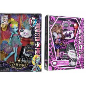 Monster high Lagoona Blue + clawdeen wolf ikili