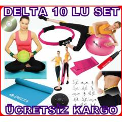 10 LU DELTA P�LATES SET� TOP BANT M�NDER �EMBER