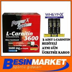 POWER SYSTEM L-Carnitine 3600 mg, 20 ampul