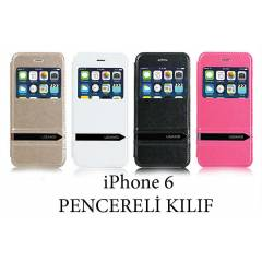 iPhone 6 4.7 K�l�f Kapak Pencereli Stand USAMS