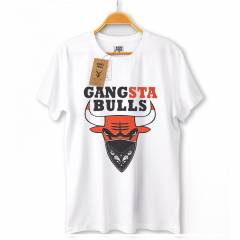 Gangsta Bulls HipHop Erkek T-shirt Ti��rt KP108