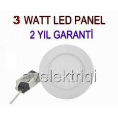 3 WATT LED  PANEL SPOT AYDINLATMA ++ G�NI�I�I