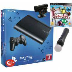 Sony Playstation 3 12 gb + move pack+sports cha