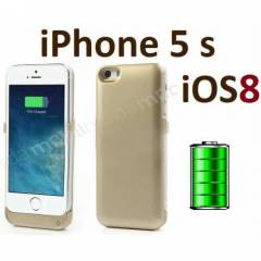 iPhone 5 5s iOS 8 Uyumlu �arjl� K�l�f Pilli Kapa