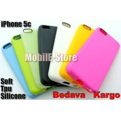 Apple iPhone 5c Soft TPU Silikon K�l�f+3xFilm