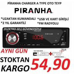 P�RANHA CHARGER A TYPE (S�YAH) OTO TEYP