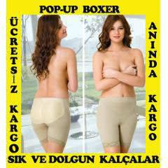 POPO KALDIRICI BOXER,POP-UP S�L�KONLU K�LOT