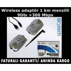 Wireless adapt�r 1 km menzilli 9Db� +300 Mbps