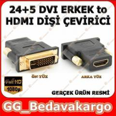 24+5 DVI Erkek to HDMI Di�i �evirici Dvi to Hdmi