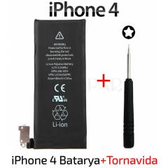 Apple iPhone 4 Batarya Orjinal Pil + Tornavida