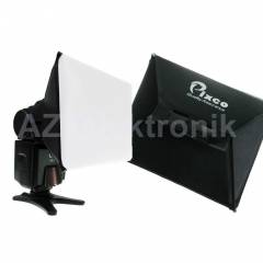 Tepe Fla� Flash i�in 10x13cm Softbox Yumu�at�c�