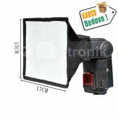 Tepe Fla� Flash i�in 15x17cm Softbox Yumu�at�c�