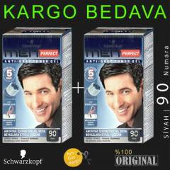 SCHWARZKOPF MEN PERFECT 90 S�YAH X2  |   2 ADET