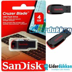 Sandisk Cruzer Blade 4 GB USB Flash Bellek 4GB