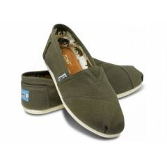 Toms Ayakkab� Olive Canvas Women's Classic